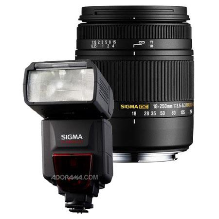 Sigma f DC Macro OS HSM Zoom Lens Nikon Digital SLR Cameras USA Warranty Bundle Sigma EF DG ST Flash 92 - 553