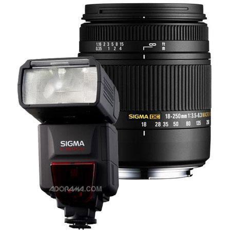 Sigma f DC Macro OS HSM Zoom Lens Sigma Digital SLR Cameras USA Warranty Bundle Sigma EF DG ST Flash 102 - 383