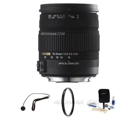 Sigma f DC OS HSM Nikon AutoFocus Lens Kit Tiffen UV Filter Lens Cap Leash Professional Lens Cleanin 97 - 226