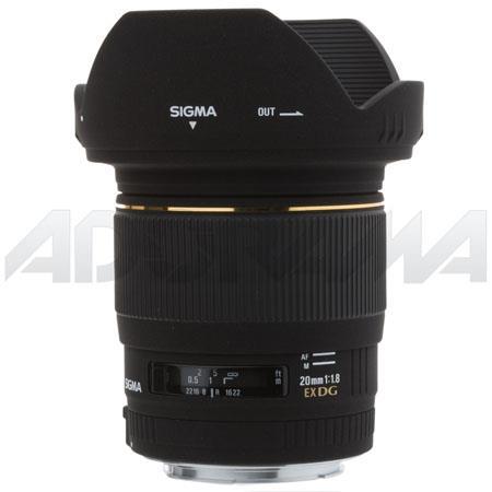 Sigma f EX Aspherical DG DF RF AutoFocus Super Wide Angle Lens Hood Canon EOS Cameras USA Warranty 59 - 293
