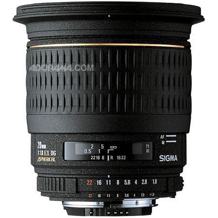 Sigma f EX Aspherical DG DF RF AutoFocus Super Wide Angle Lens Hood Nikon AF D Cameras USA Warranty 45 - 584
