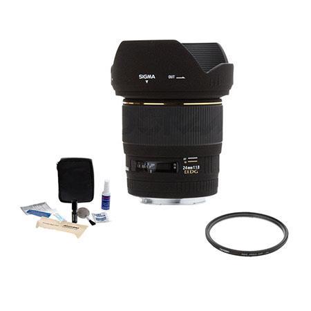 Sigma f EX Aspherical DG DF Macro AF Wide Angle Lens Kit Canon EOS Cameras Tiffen UV Wide Angle Filt 207 - 79