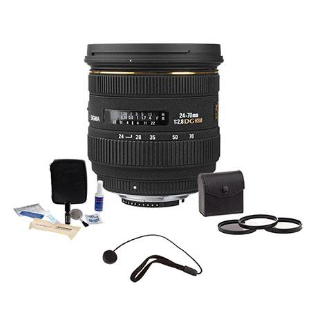 Sigma f EX Aspherical IF EX DG HSM AutoFocus Zoom Lens Nikon AF Digital SLRs USA Warranty Bundle Pro 168 - 625