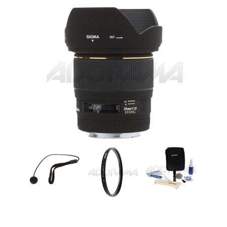 Sigma f EX DG Aspherical Macro AF Wide Angle Lens Kit Canon EOS Cameras Tiffen UV Filter Lens Cap Le 58 - 553