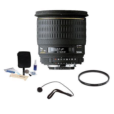 Sigma f EX DG Aspherical Macro AF Wide Angle Lens Kit Nikon AF D Cameras Tiffen UV Filter Lens Cap L 192 - 638