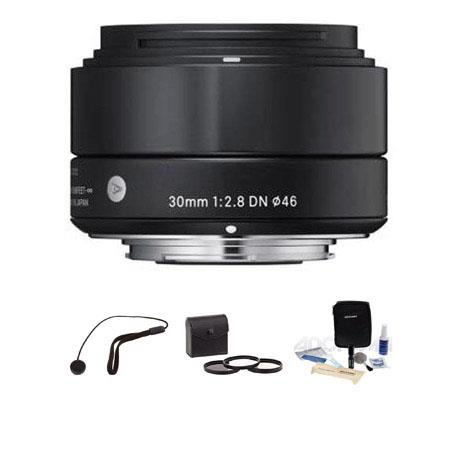 Sigma f DN Lens Micro Four Thirds Cameras Bundle Pro Optic Digital Essentials Filter Kit Flashpoint  80 - 34
