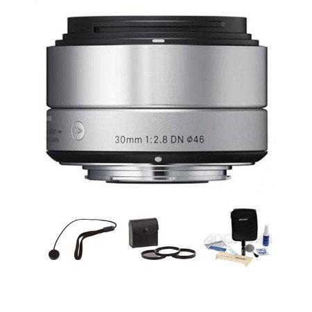 Sigma f DN Lens Micro Four Thirds Cameras Silver Bundle Pro Optic Digital Essentials Filter Kit Flas 80 - 34