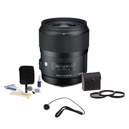 Sigma f DG HSM Auto Focus Lens Canon EOS Cameras USA Warranty Bundle Pro Optic Filter Kit Ultra Viol 22 - 577