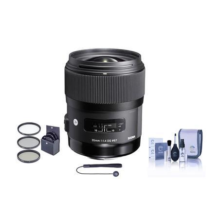 Sigma f DG HSM Auto Focus Lens Nikon AF Cameras USA Warranty Bundle Pro Optic Filter Kit Ultra Viole 62 - 301