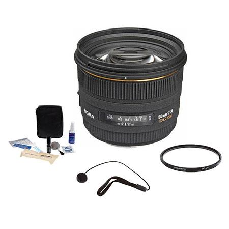Sigma f EX DG HSM Auto Focus Lens Sigma Cameras USA Warranty Bundle Pro Optic Multi Coated UV Filter 49 - 84