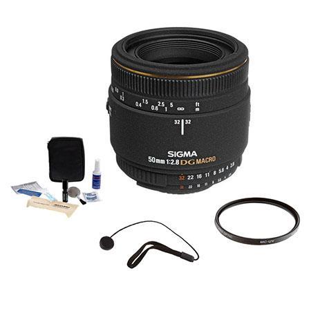 Sigma f EX DG Auto Focus Macro Lens Kit Nikon AF Cameras USA Warranty Pro Optic MC UV Filter Lens Ca 64 - 59