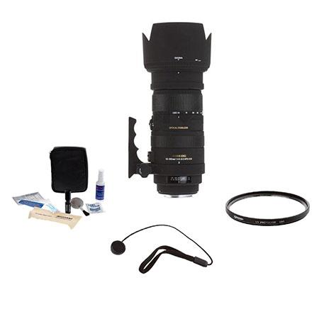 Sigma f APO DG OS HSM Lens Kit for Canon EOS Cameras Tiffen UV Filter Lens Cap Leash Professional Le 5 - 755
