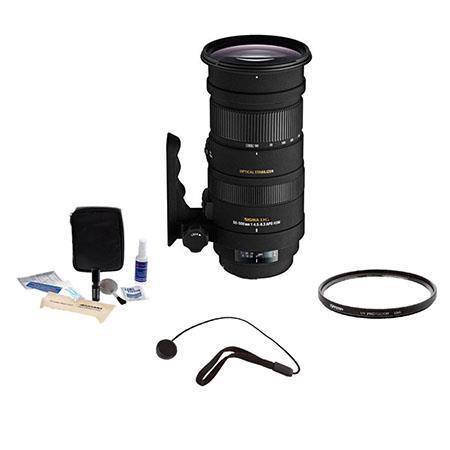 Sigma f APO DG OS HSM Lens Kit for Nikon SLR Tiffen UV Filter Lens Cap Leash Professional Lens Clean 64 - 694