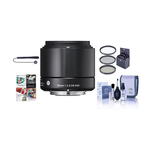 Sigma f DN Lens Micro Four Thirds Cameras Bundle Pro Optic Digital Essentials Filter Kit Flashpoint  190 - 339