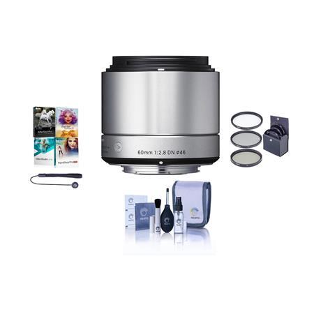Sigma f DN Lens Micro Four Thirds Cameras Silver Bundle Pro Optic Digital Essentials Filter Kit Flas 169 - 368