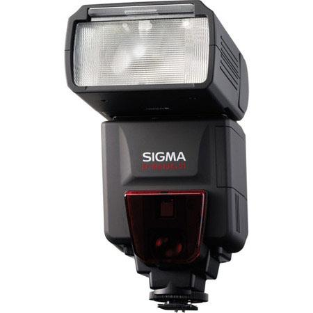 Sigma EF DG ST Shoe Mount Flash Canon EOS E TTL II Digital SLRs Guide Number at Setting 150 - 335