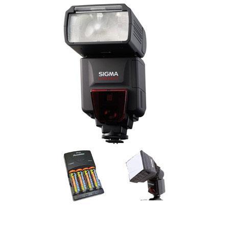 Sigma EF DG ST Shoe Mount Flash Sony ADI Digital SLRs Basic Outfit NiMH Batteries Charger Adorama Mi 84 - 199