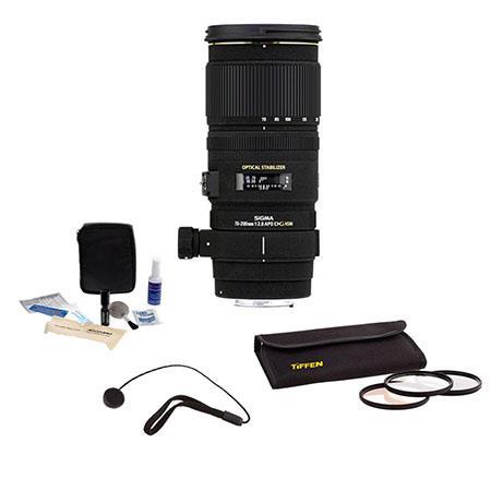 Sigma f EX DG OS HSM Auto Focus Kit Maxxum Sony Alpha Mount Tiffen Photo Essentials Filter Kit Lens  81 - 578