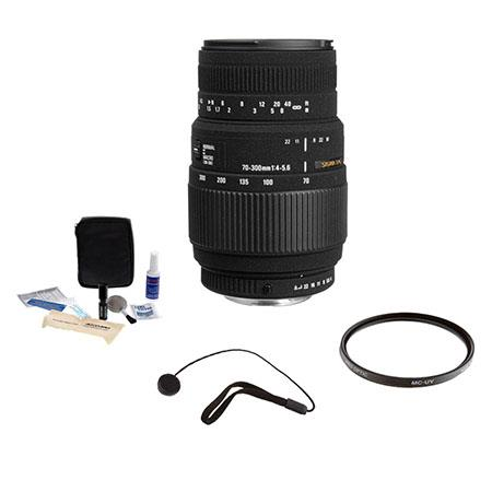 Sigma f DG Macro Tele Zoom Lens Kit PentaAF Cameras Tiffen UV Filter Lens Cap Leash Professional Len 165 - 94
