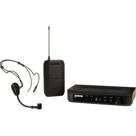 Shure BLXPG Bodypack Wireless System Includes BLX Transmitter BLX Single Channel Receiver PG Headset 116 - 66