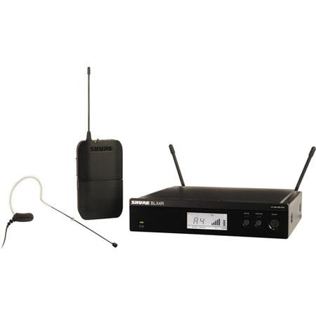 Shure BLXRMX Rackable Headworn Wireless System Includes MX Earset Headworn Microphone BLX Transmitte 117 - 650