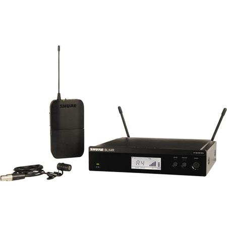 Shure BLXRW Rackable Lavalier Wireless System Includes WL Lavalier Condenser Microphone BLX Transmit 112 - 413