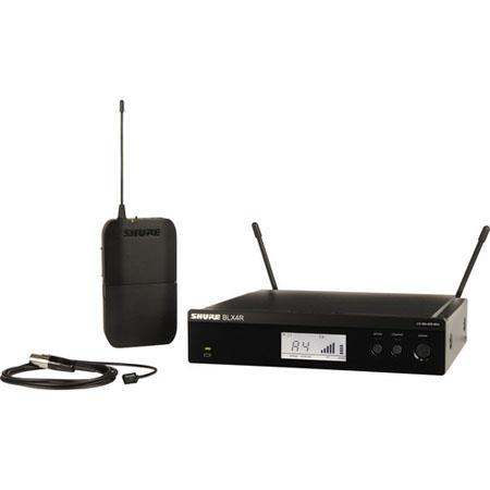 Shure BLXRW Rackable Lavalier Wireless System Includes WL Lavalier Microphone BLX Transmitter BLXR R 124 - 534