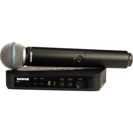 Shure BLXB Handheld Wireless System Includes BLX Handheld Transmitter Beta A Mic BLX Receiver M MHz 16 - 221