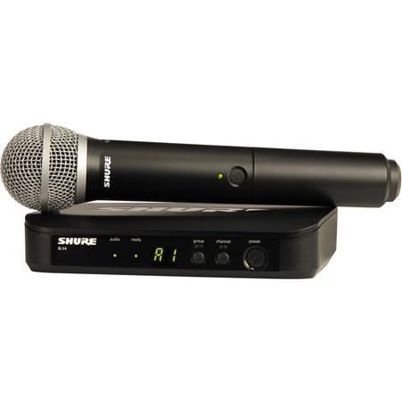 Shure BLXPG Vocal Wireless System Includes BLX Handheld Transmitter PG BLX Single Channel Wireless R 3 - 58