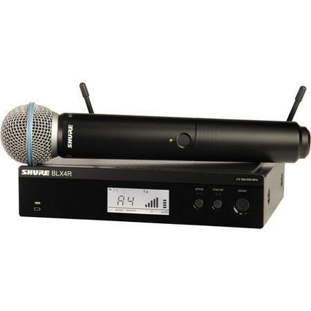 Shure BLXRB Rackable Handheld Wireless System Includes BLX Transmitter BLXR Receiver Beta A Micropho 133 - 249