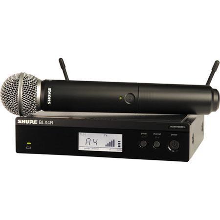 Shure BLXRSM Rackable Handheld Wireless System Includes BLX Transmitter BLXR Receiver SM Microphone  16 - 221
