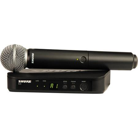 Shure BLXSM Vocal Wireless System Includes BLX Single Channel Receiver BLX Handheld Transmitter SM M 105 - 111