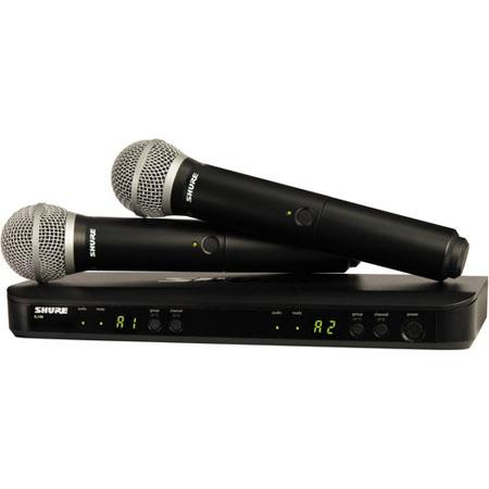 Shure BLX Dual Channel Handheld Wireless System PG Handheld Mics K MHz Frequency Band 57 - 472