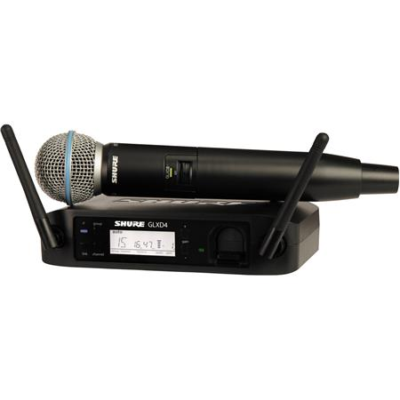 Shure GLXD Wireless Receiver System GLXD Handheld Transmitter and Beta A Microphone 57 - 472