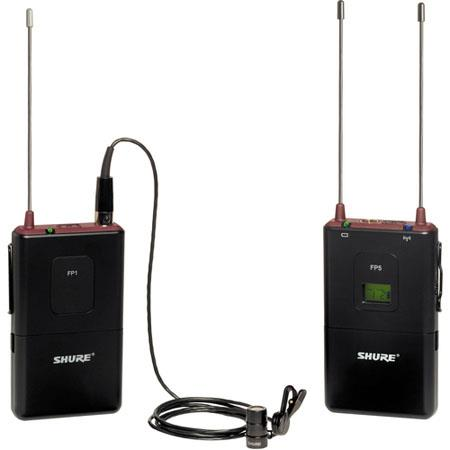 Shure FP H FP Wireless Bodypack System FP Diversity Receiver FP Bodypack Transmitter WL Lavalier Mic 200 - 462