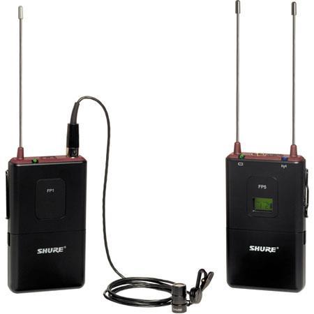 Shure FP J FP Wireless Bodypack System FP Diversity Receiver FP Bodypack Transmitter WL Lavalier Mic 200 - 462