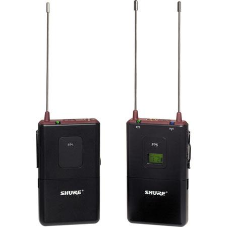 Shure FP G FP Wireless Bodypack System FP Diversity Receiver FP Bodypack Transmitter No Mic MHz 187 - 160