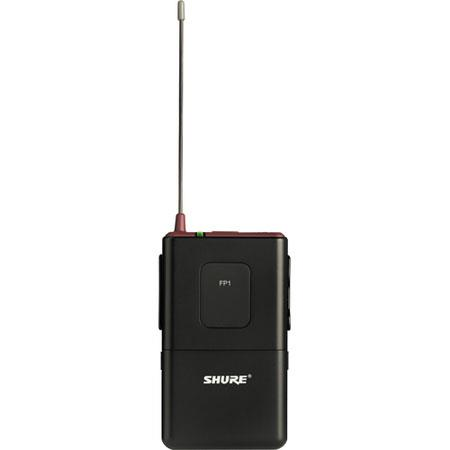 Shure FP J Wireless Bodypack Transmitter to mW RF Output Power J MHz Band 142 - 490
