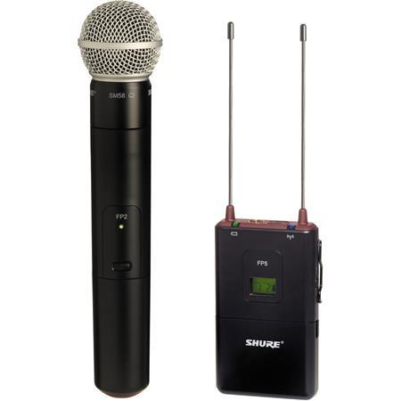 Shure FPSM J FP Wireless Handheld System FP Diversity Receiver FP Handheld Transmitter SM Cardioid C 172 - 42