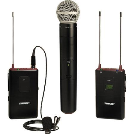 Shure FPSM H Portable BodypackHandheld Wireless System WL Omnidirectional Lavalier Mic SM Cardioid M 324 - 22