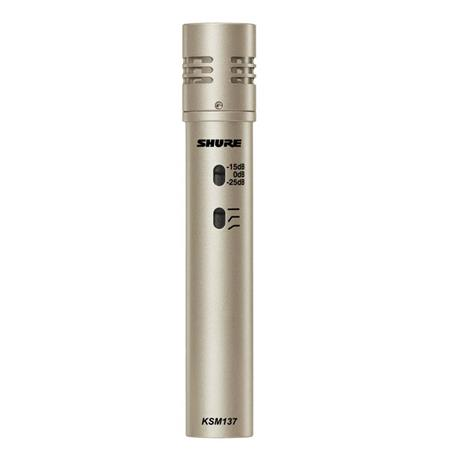 Shure KSMSL Cardioid Condenser Microphone Hz kHz Frequency Response Champagne 71 - 650