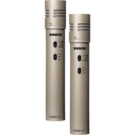 Shure KSMSL Stereo Cardioid Condenser Studio Microphone Pair Hz kHz Frequency Response 90 - 566