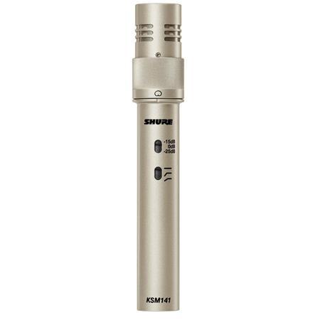 Shure KSMSL Dual Pattern Studio Condenser Microphone Hz Frequency Response Champagne 16 - 221