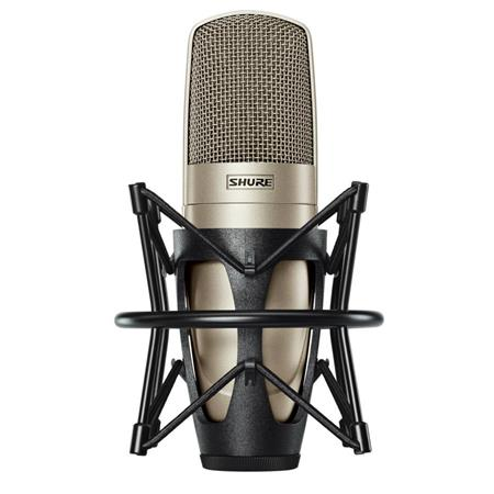 Shure KSM Embossed Single Diaphragm Microphone Aluminum Case Champagne 317 - 16