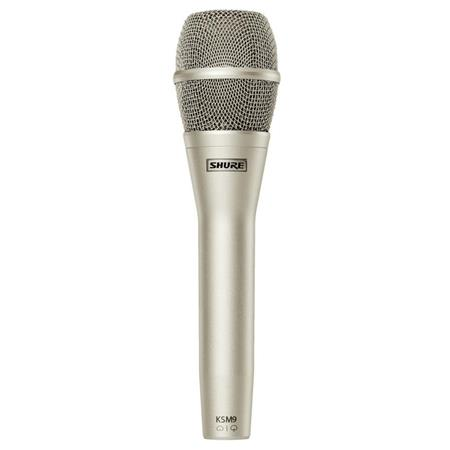 Shure KSM Handheld Dual Diaphragm Cardioid Supercardioid Vocal Microphone Champagne 130 - 134