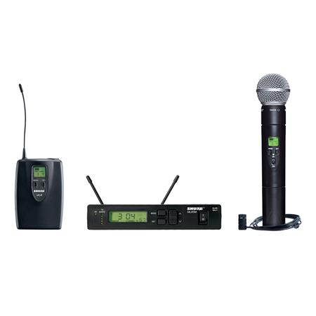 Shure ULXS G Wireless Combo Microphone System Includes ULXS Receiver ULX ULX Transmitter SM Mic WL M 70 - 715