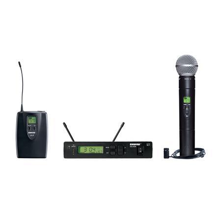 Shure ULXS J Wireless Combo Microphone System Includes ULXS Receiver ULX ULX Transmitter SM Mic WL M 70 - 715