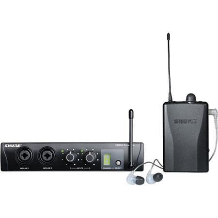 Shure PTRCL H Wireless Personal Monitoring System SE In Ear Headphones MHz Frequency Range North Ame 49 - 494