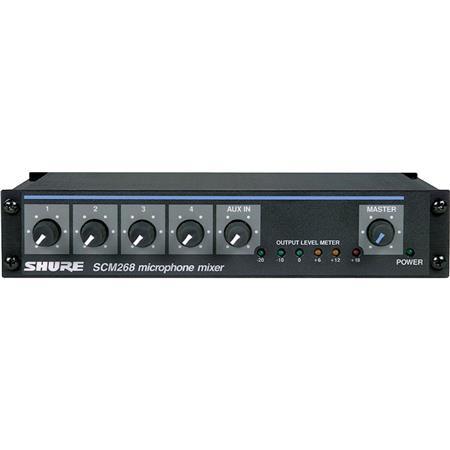 Shure SCM Channel Rackmount Microphone Mixer 224 - 288