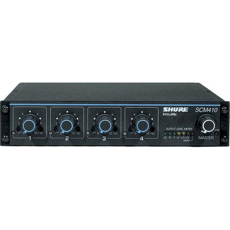 Shure SCM Channel Automatic Microphone Mixer V AC Power XLR Mic Inputs XLR Output 206 - 42